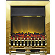Adam Hertford Brass Electric Inset Fire