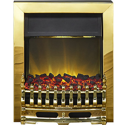 adam hertford brass electric inset fire. Black Bedroom Furniture Sets. Home Design Ideas