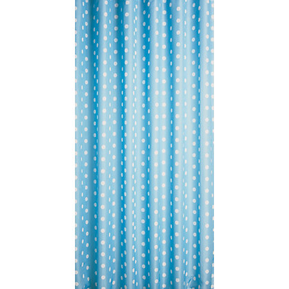 Home Of Style Polka Dot Shower Curtain Blue