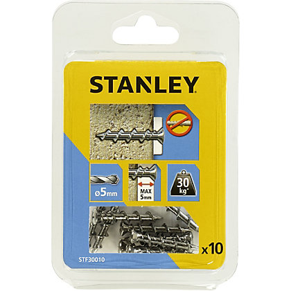 Image for Stanley 10 Screw Anchors 32mm Countersunk Head   - STF30010-XJ from StoreName