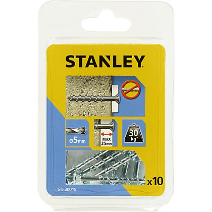 Image for Stanley 10 Screw Anchors 50mm Countersunk Head  - STF30018-XJ from StoreName