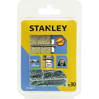 Image for Stanley 30 Screw Anchors 50mm Countersunk Head  - STF30019-XJ from StoreName