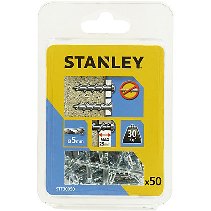 Image for Stanley 50 Mixed Screw Anchors - STF30050-XJ from StoreName