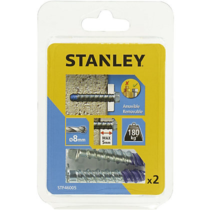 Image for Stanley 2X Screw Bolt 8 x 50mm - STF46005-XJ from StoreName