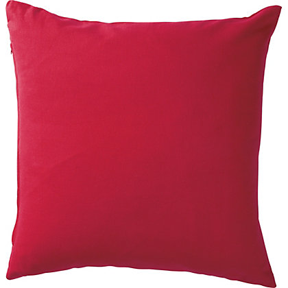 Image for ColourMatch Cotton Cushion - Poppy Red. from StoreName