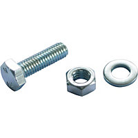 Hex Bolt - Bright Zinc Plated - M6 20mm - 10 Pack
