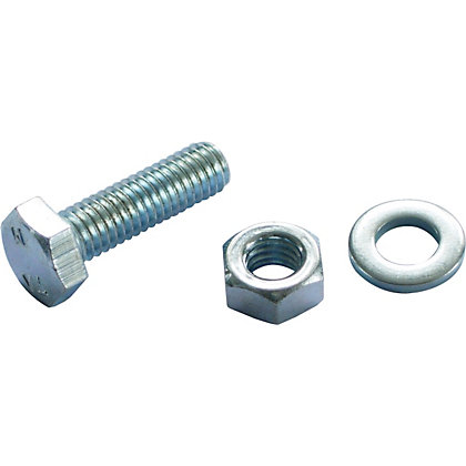 Image for Hex Bolt - Bright Zinc Plated - M6 20mm - 10 Pack from StoreName