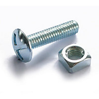 Roofing Bolt - Bright Zinc Plated - M6 100mm - 5 Pack