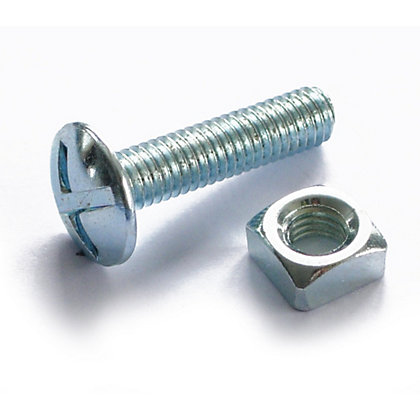 Image for Roofing Bolt - Bright Zinc Plated - M6 100mm - 5 Pack from StoreName