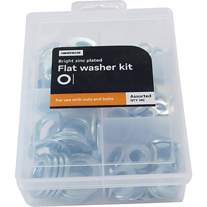 Image for Flat Washer Kit - Assorted - 140 Pack from StoreName