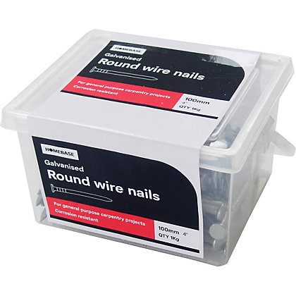 Image for Round Wire Nail - Galvanised - 100mm  - 1kg from StoreName