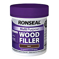 Ronseal Multipurpose Wood Filler Tub - Dark - 250g