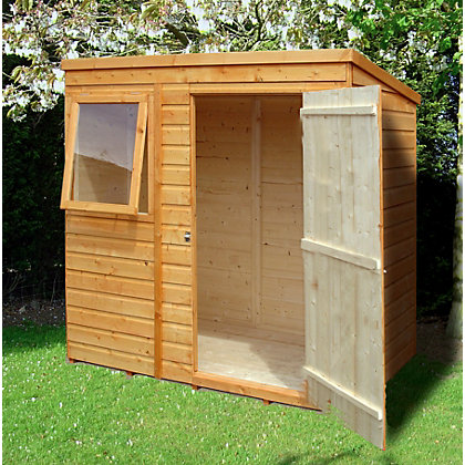 Image for Homewood Shiplap Pent Shed - 6ft x 4ft from StoreName