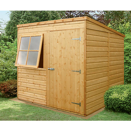 Image for Homewood Shiplap Pent Square Wooden Shed - 7ft x 7ft from StoreName