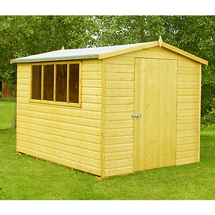 Image for Homewood High Spec Apex Shed - 10ft x 8ft from StoreName