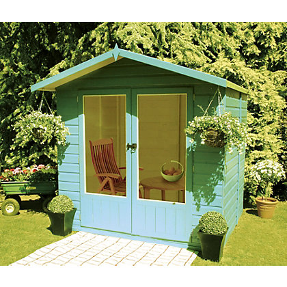 Homewood avance summerhouse 6ft 11in x 6ft 2in for Garden decking homebase