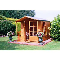 Homewood Buckingham Summerhouse plus Veranda - 7ft 1in x 9ft 1in