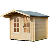 Homewood Crinan 19mm Log Cabin - 8ft 10in x 9ft 5in