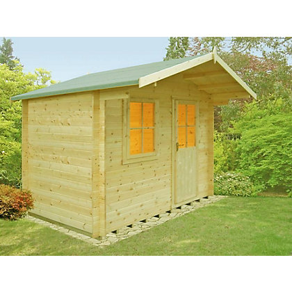 Image for Homewood Selwood 28mm Log Cabin - 9ft 9in x 10ft 1in from StoreName