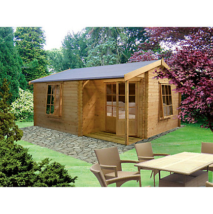 Image for Homewood Ringwood 28mm Wooden Log Cabin - 12ft x 13ft from StoreName