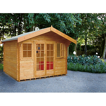 Image for Homewood Clipstone 28mm Log Cabin - 14ft x 14ft from StoreName