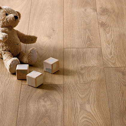 Image for Hygena Stanwick Oak Laminate Flooring - 2.13sq m per pack from StoreName