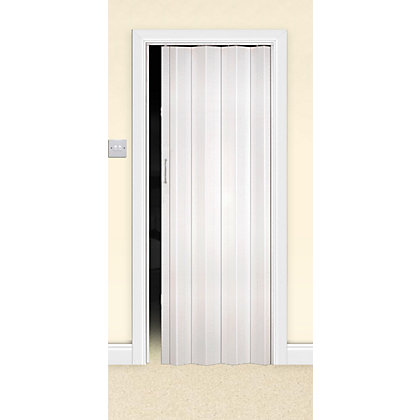 Image for White Oak Effect Single Skin Folding Internal Door - 820mm Wide from StoreName