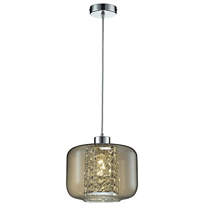 Image for Glass Droplet Champagne Pendant Light from StoreName