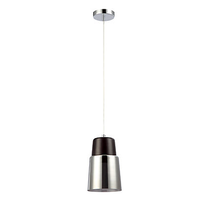 Image for Wood and Glass Cylinder Pendant Light from StoreName