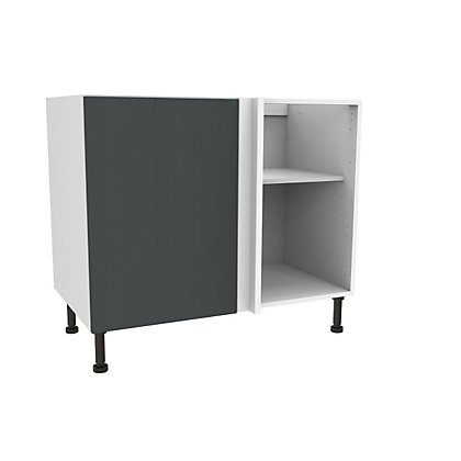 Image for Simply Hygena Chancery Grey High Line Corner Base Unit - 1000mm from StoreName