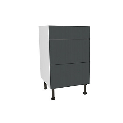 Image for Simply Hygena Chancery Grey 3 Draw Base Unit - 500mm (Standard) from StoreName