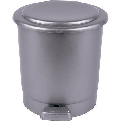 Image for Round Pedal Bin - Silver - 5L from StoreName