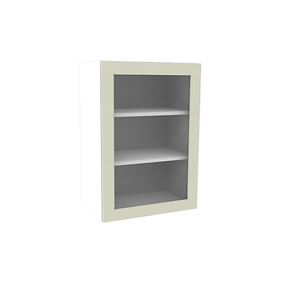 Image for Simply Hygena Chesham Cream Glass Wall Cabinet - 500mm from StoreName