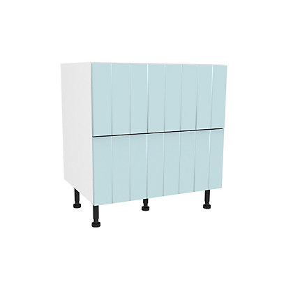 Image for Simply Hygena Turnham - Blue - 800mm 2 Drawer Pan Base Unit from StoreName