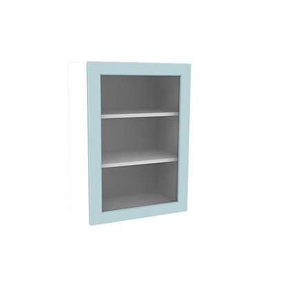 Image for Simply Hygena Turnham - Blue - 500mm Glass Wall Cabinet from StoreName