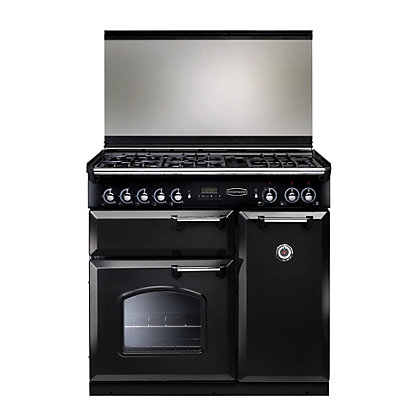 Image for Rangemaster Classic 90cm Lidded Dual Fuel Range Cooker-Black from StoreName