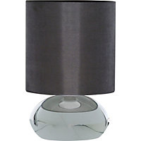 Saalbach Touch Table Lamp - Chrome effect/Grey Shade