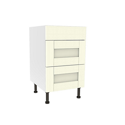 Image for Simply Hygena Southfield Ivory 3 Draw Base Unit - 500mm (Standard) from StoreName