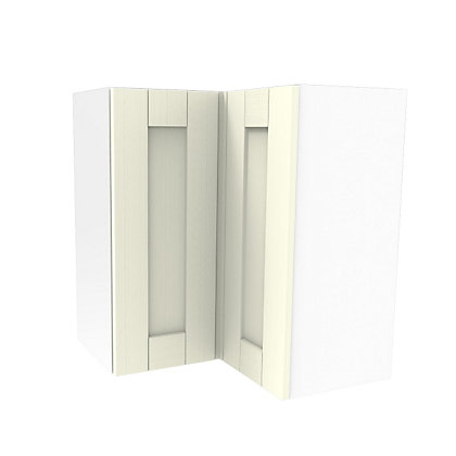 Image for Simply Hygena Southfield Ivory Corner Wall Cabinet - 635mm from StoreName