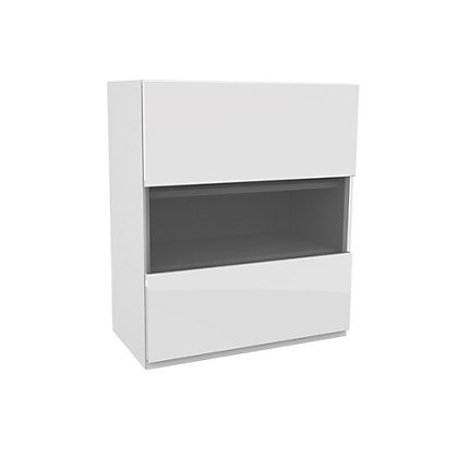 Image for Simply Hygena Kensal White Glass Wall Cabinet - 500mm from StoreName