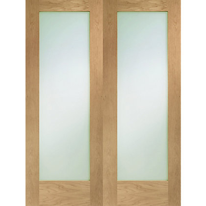 Image for 1 Lite Oak Internal Shaker Double Doors - 1220mm Wide from StoreName