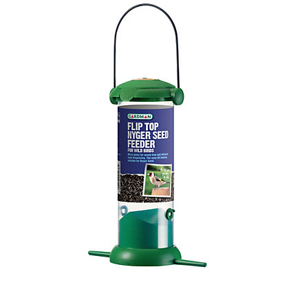 Image for Gardman Flip Top Nyger Seed Feeder - Green from StoreName