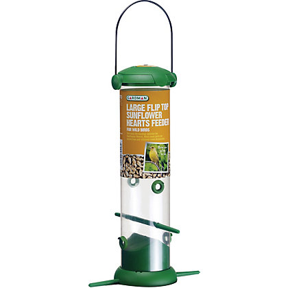 Image for Gardman Large Flip Top Sunflower Heart Bird Feeder from StoreName