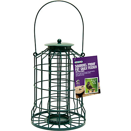 Image for Gardman Squirrel Proof Fat Snax Bird Feeder - Green from StoreName
