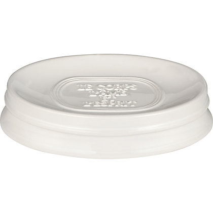 Image for Embossed Typography Ceramic Soap Dish from StoreName