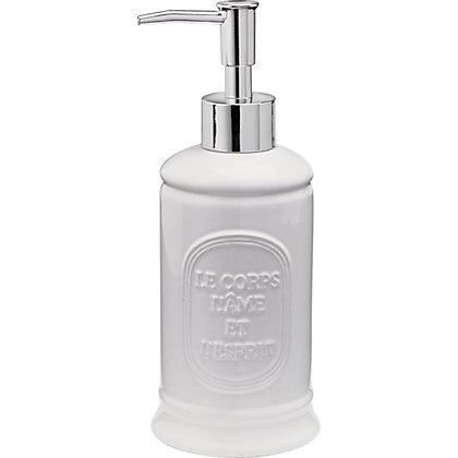 Image for Embossed Typography Ceramic Lotion Bottle from StoreName