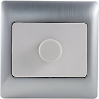 Schneider Electric 400W/VA Single 2 Way Dimmer - Fusion Silver
