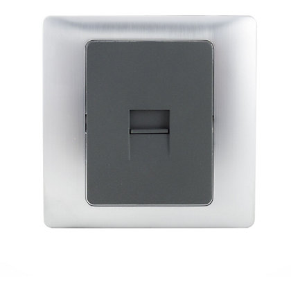 Image for Schneider Electric Single Secondary Telephone Outlet - Mercury Silver from StoreName