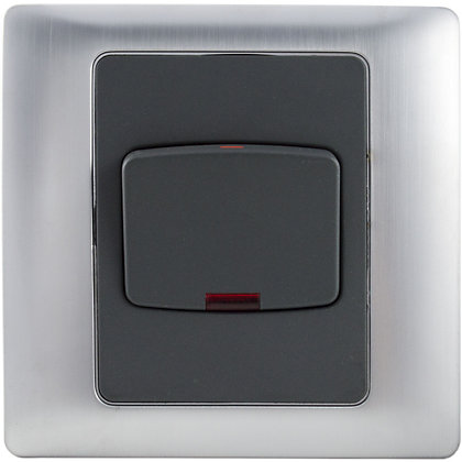 Image for Schneider Electric 45A Double-Pole Switch With Neon - Mercury Silver from StoreName