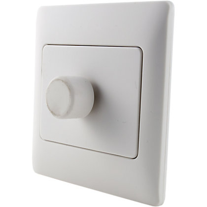 Image for Schneider Electric 400W/VA Single 2 Way Dimmer - White Rubber from StoreName